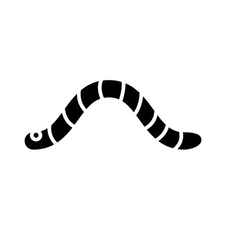 Worm icon vector illustration Banque d'images - 120279276
