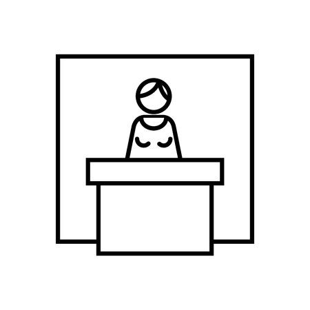 Icono de expositor, ilustración vectorial Ilustración de vector