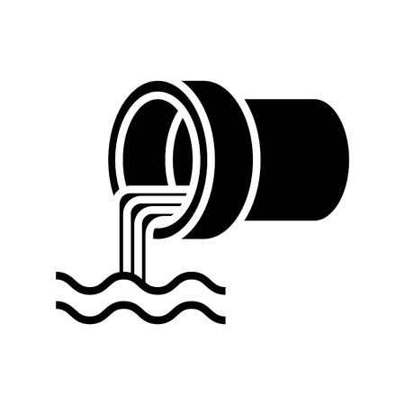 Icono de aguas residuales, ilustración vectorial