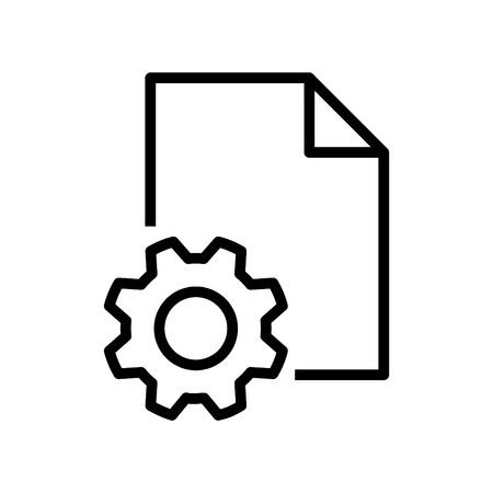 Setting file icon Illustration