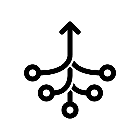 Consolidation icon, vector illustration