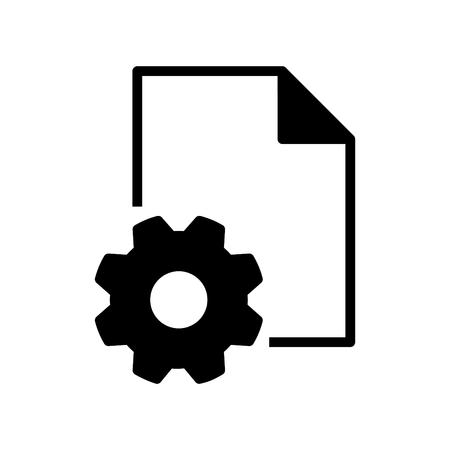 Setting file icon Ilustrace