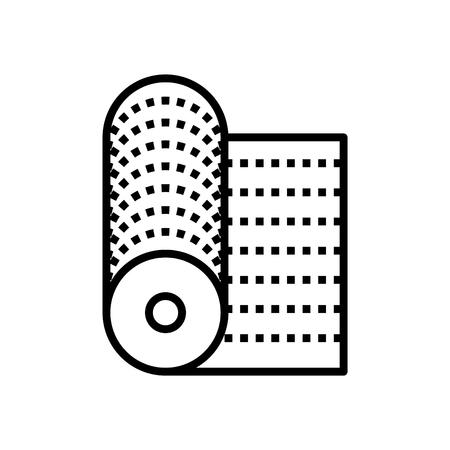 fabric icon, vector illustration
