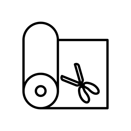 fabric icon, vector illustration