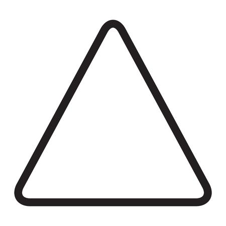 triangle icon, warning, empty Ilustrace