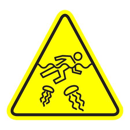 Quallen-Warnsymbol