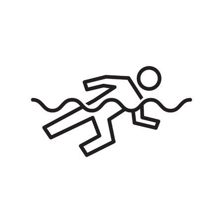 swimming icon, vector illustration