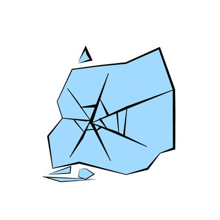 broken glass icon Ilustrace