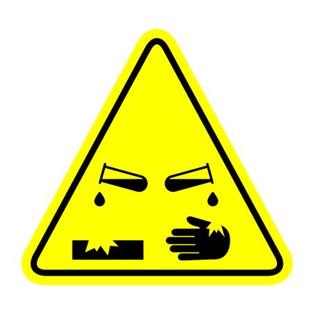 Corrosive substance, vector illustration Ilustrace