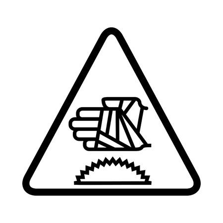 Hand with bandage icon, warning sign