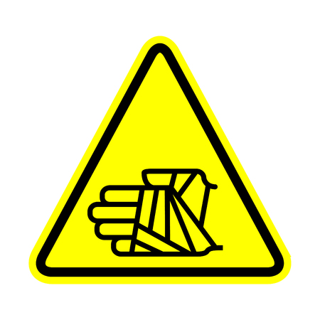 Hand with bandage icon, warning sign