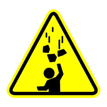 Falling objects icon, vector illustration 일러스트