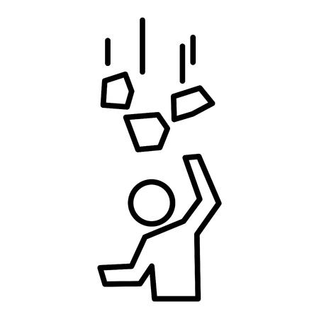 Falling objects icon, vector illustration Illustration
