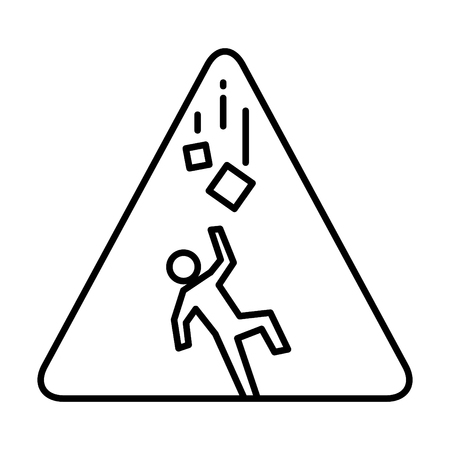 Falling objects icon, vector illustration Ilustrace