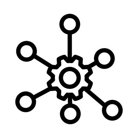 Icône multicanal, illustration vectorielle Vecteurs