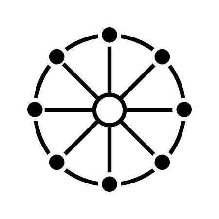 Pictogram voor meerdere kanalen, vectorillustratie