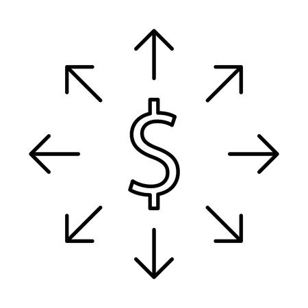 money distribution icon