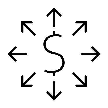 money distribution icon