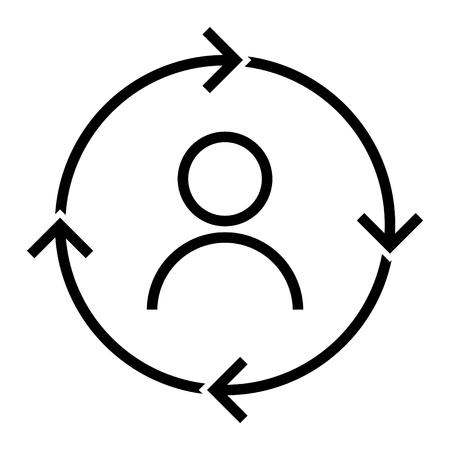 Retention icon, vector illustration Vettoriali