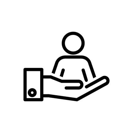 Retention icon, vector illustration Çizim