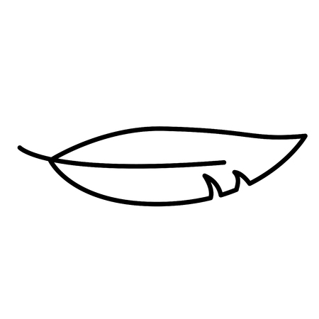Soft icon, vector illustration. Feather.