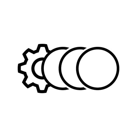 Multithreading icon, vector illustration Illustration