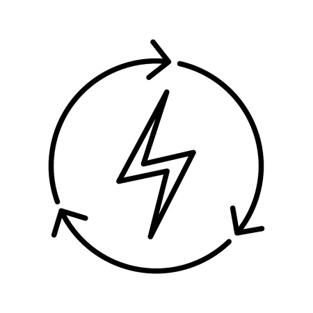Resources power icon, vector illustration Ilustrace