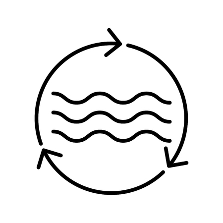 Resources water icon, vector illustration