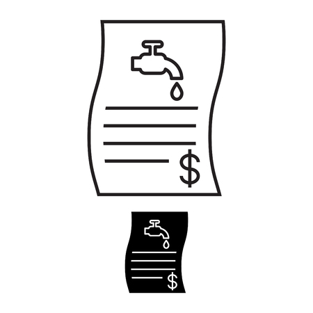 Water bill icon Illustration