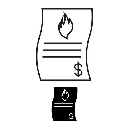 Gas Bill icon Ilustrace