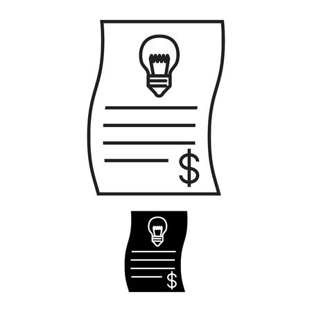 Energy bill icon