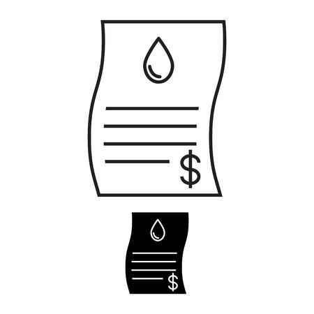 Water bill icon Ilustrace