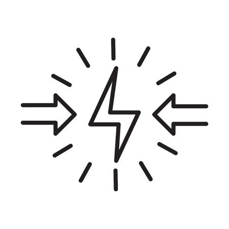 Conflict icon, vector illustration Ilustrace