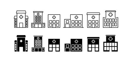 Hospital icons set, vector illustration