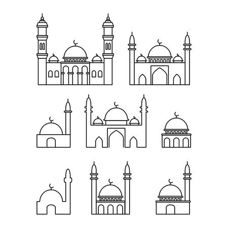 Mosque icon, vector illustration Illusztráció