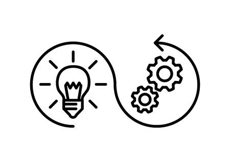 icône de mise en œuvre, illustration vectorielle Vecteurs