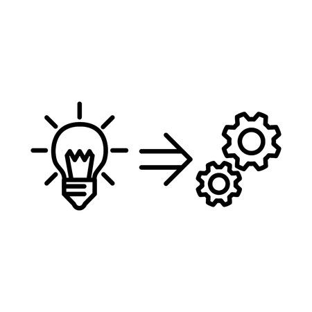 icône de mise en œuvre, illustration vectorielle