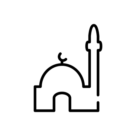 Mosque icon, vector illustration Illusztráció