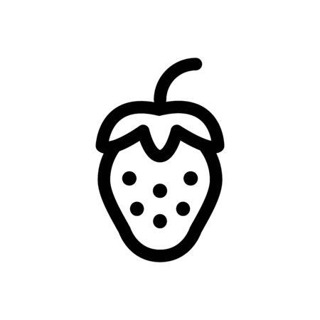 strawberry icon, vector