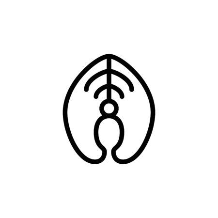 Salmon fillet icon