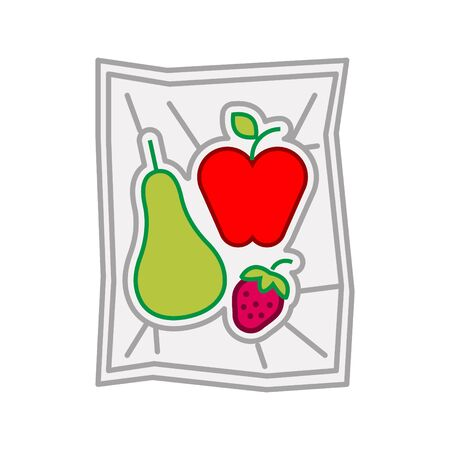 Food vacuum bag icon