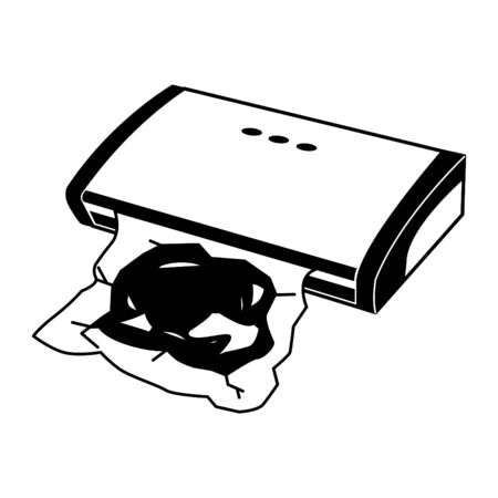 Food vacuum icon Illustration