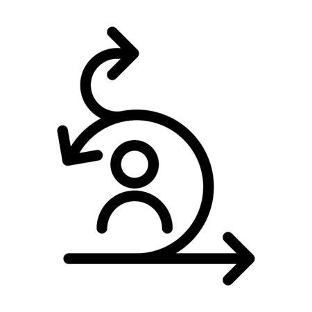 Scrum master icon, Agile icon, vector Illustration