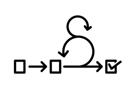 Scrum icon, Agile icon, vector Stock Illustratie