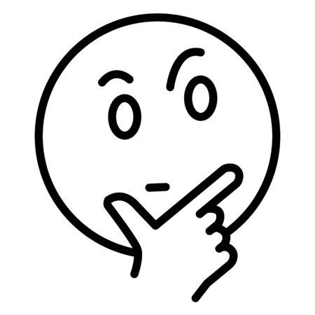 Icono de cara de pensamiento Ilustración de vector