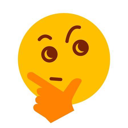 Thinking face icon Illustration