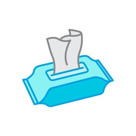 Icono de toallitas húmedas Ilustración de vector