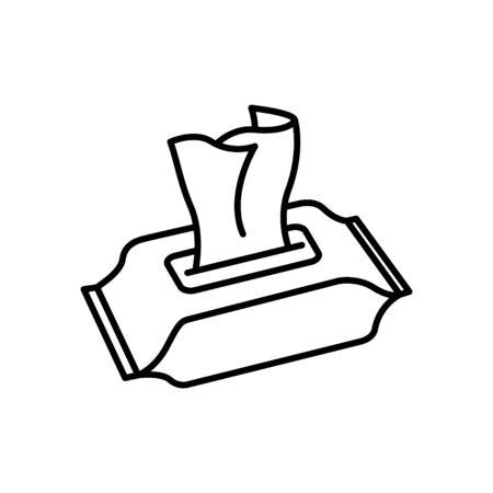 Icône de lingettes humides