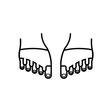 foot corrector pain icon Illustration