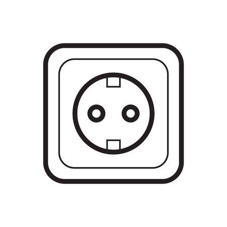 USB Port and EU plug outlet icon